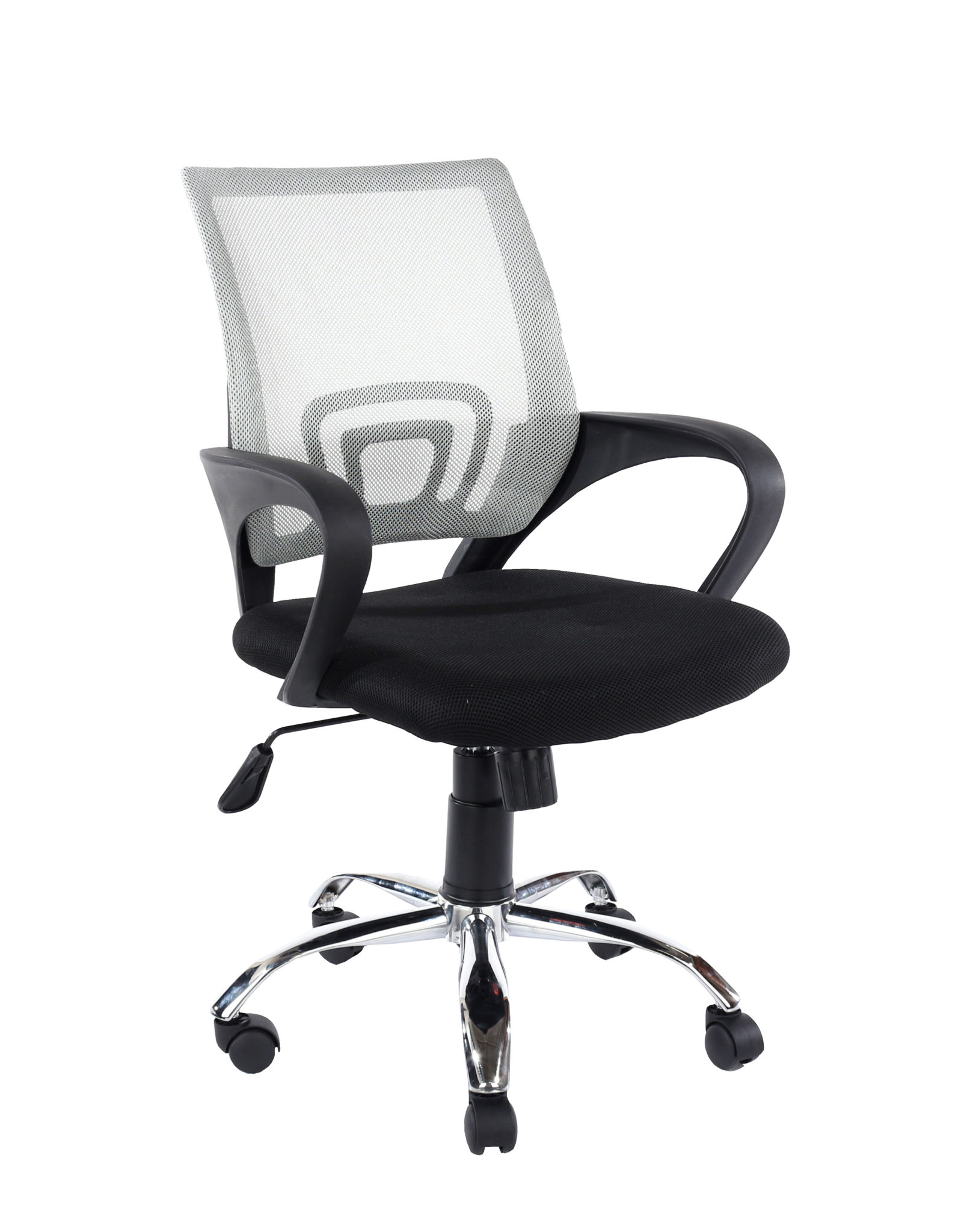 study chair in grey mesh back