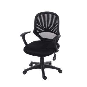 black fabric seat with black base