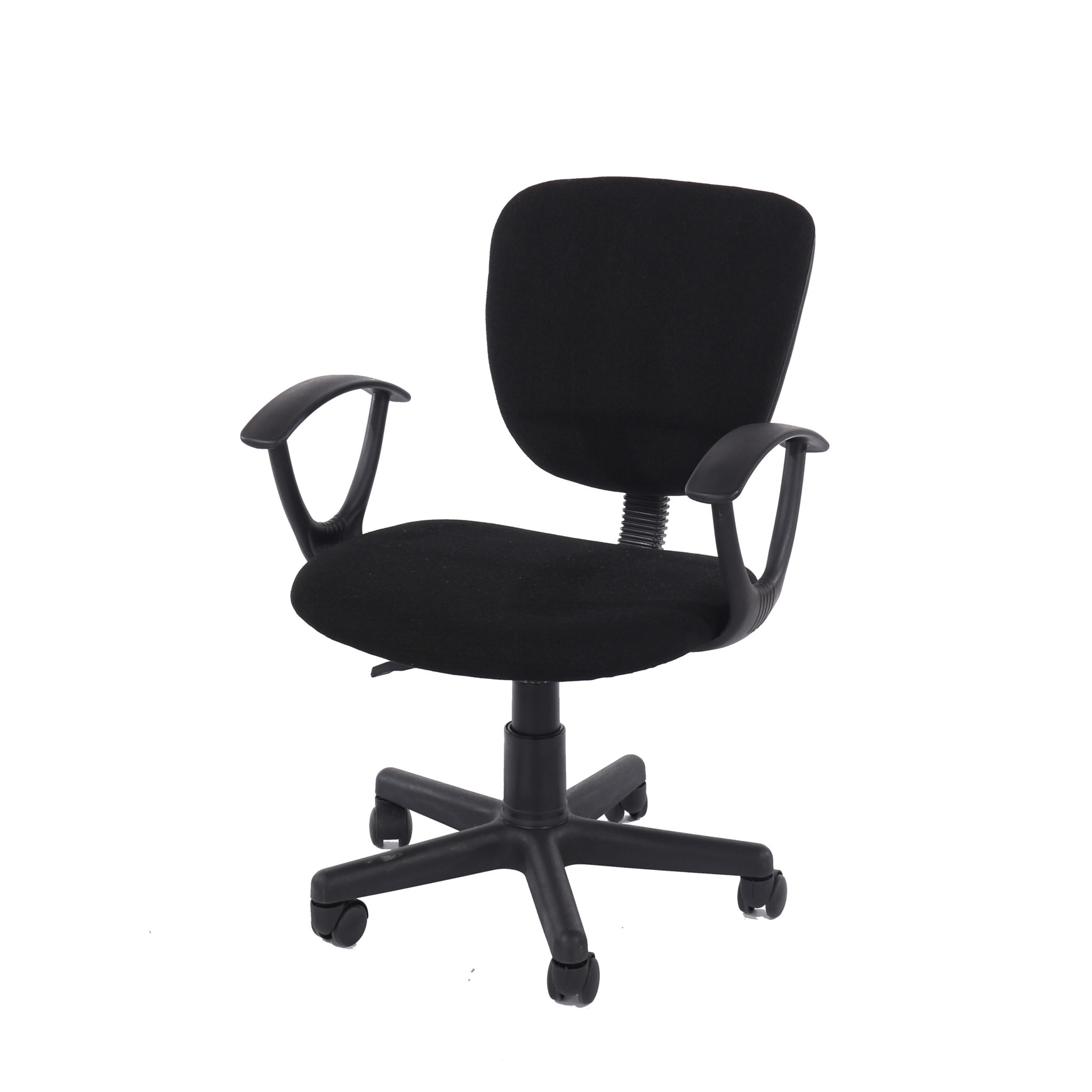 study chair in black fabric black base
