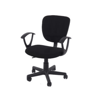 study chair in black fabric black base