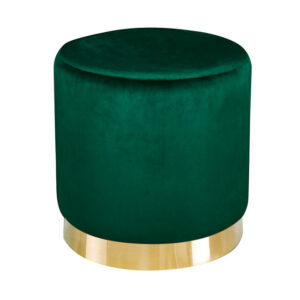 Lourd Pouffe Forest Green Velvet (Pack of 1)