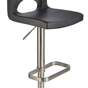 Laven Brushed Steel Height Adjustable Kitchen Breakfast Bar Stool Various Colours