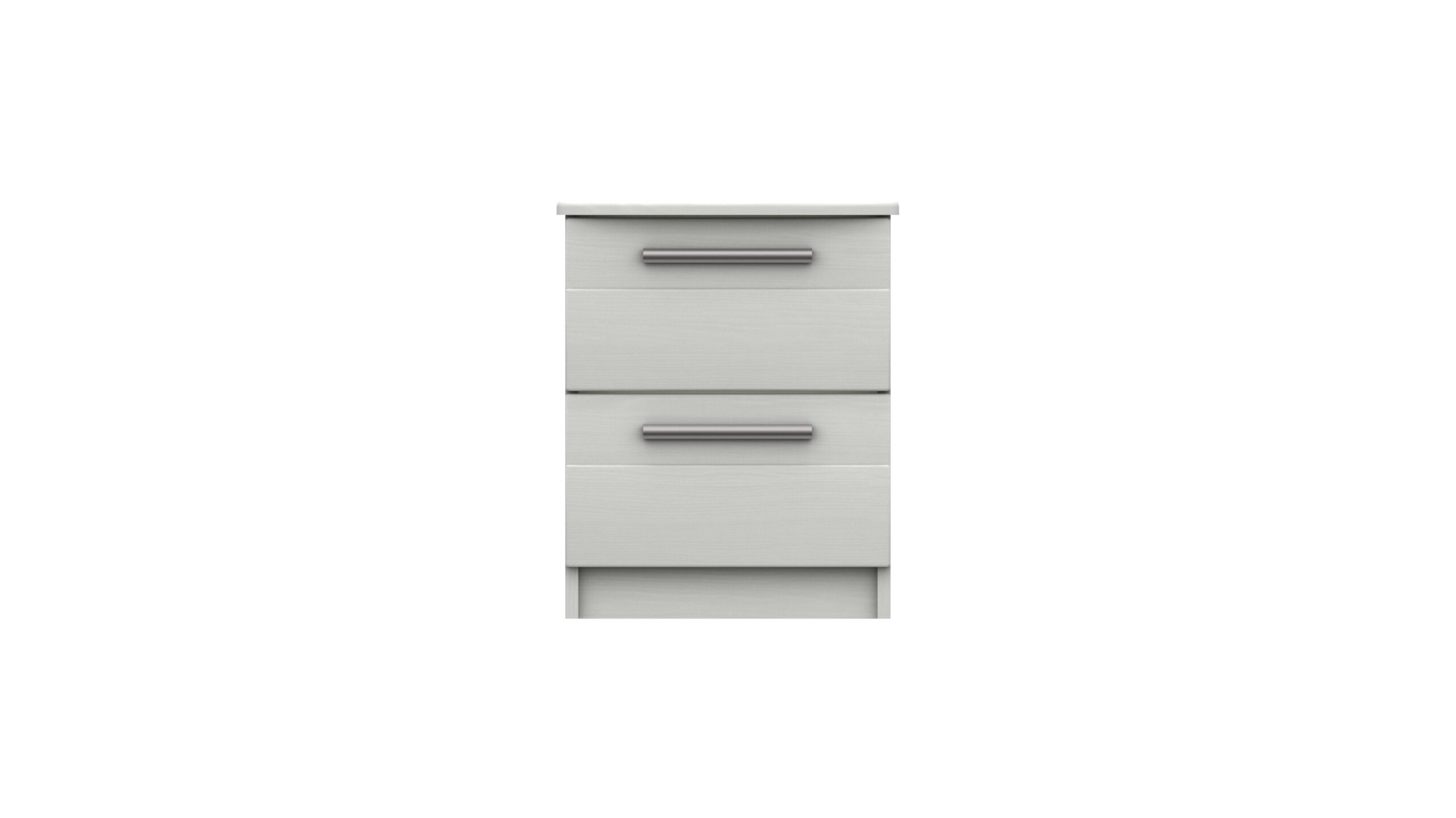 Midas Two Drawer Bedside Table - White Woodgrain