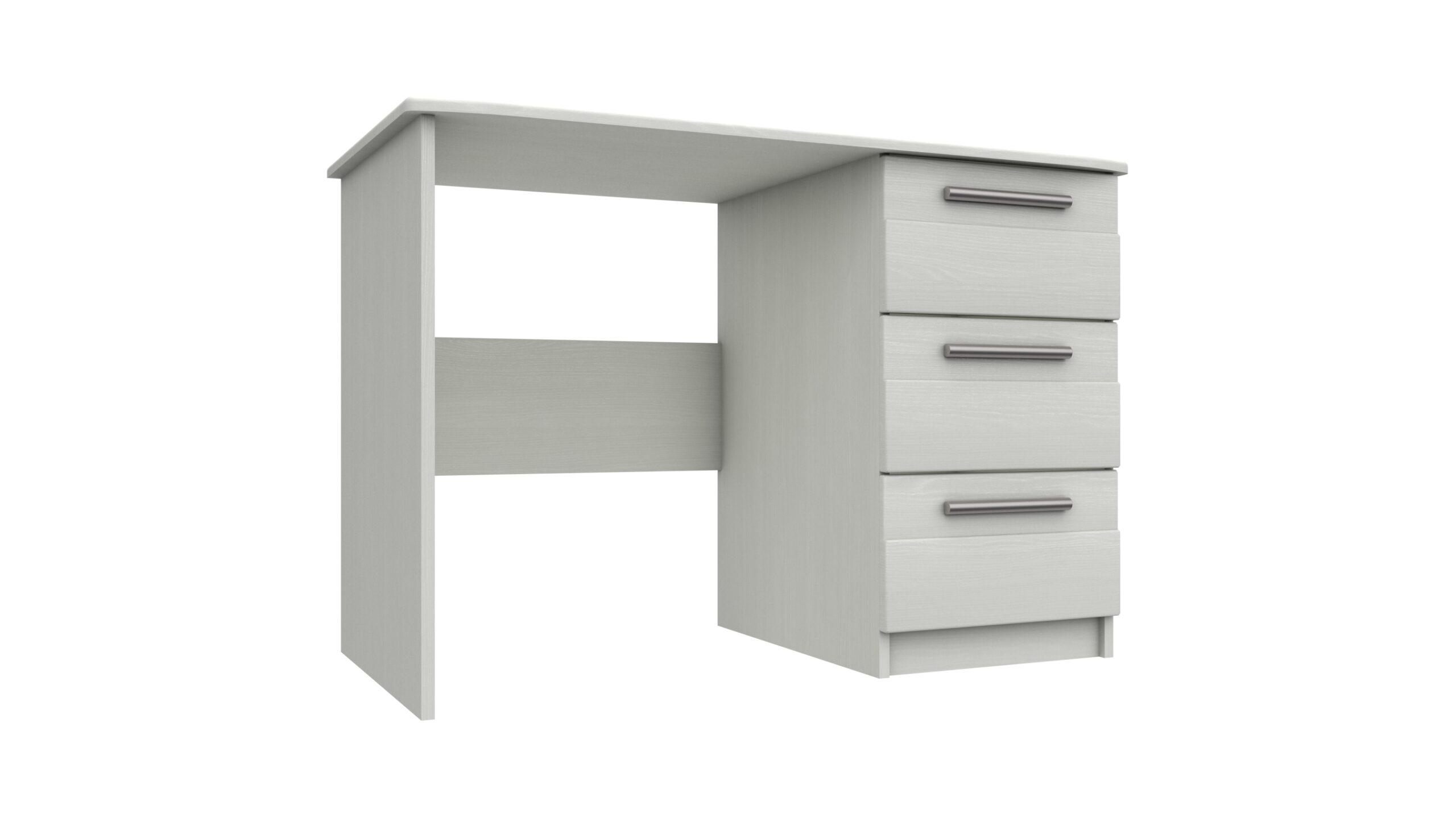 Midas Three Drawer Dressing Table - White Woodgrain