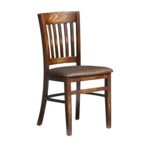 Millet Side Chair - Weathered Finish - Distressed Bark Lascari Faux Leather