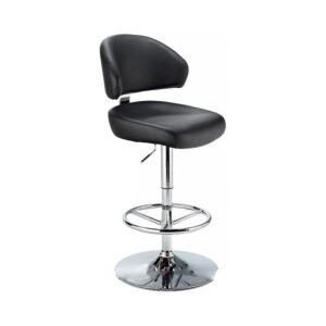 Monarch Padded Seat Adjustable Kitchen Bar Stool - Black