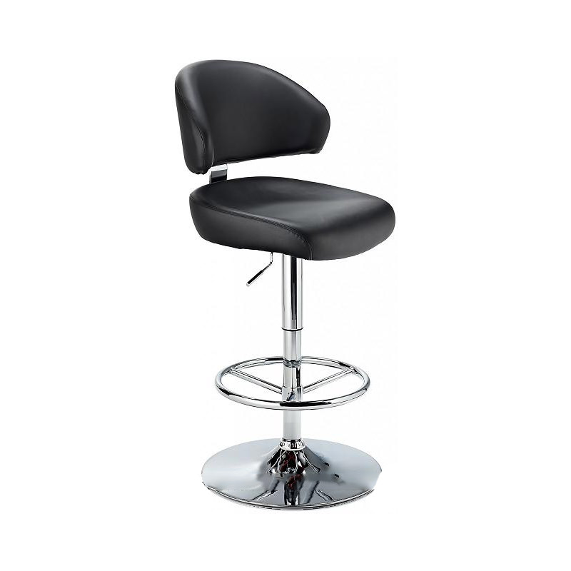 Monarch Padded Seat Adjustable Kitchen Bar Stool - Black