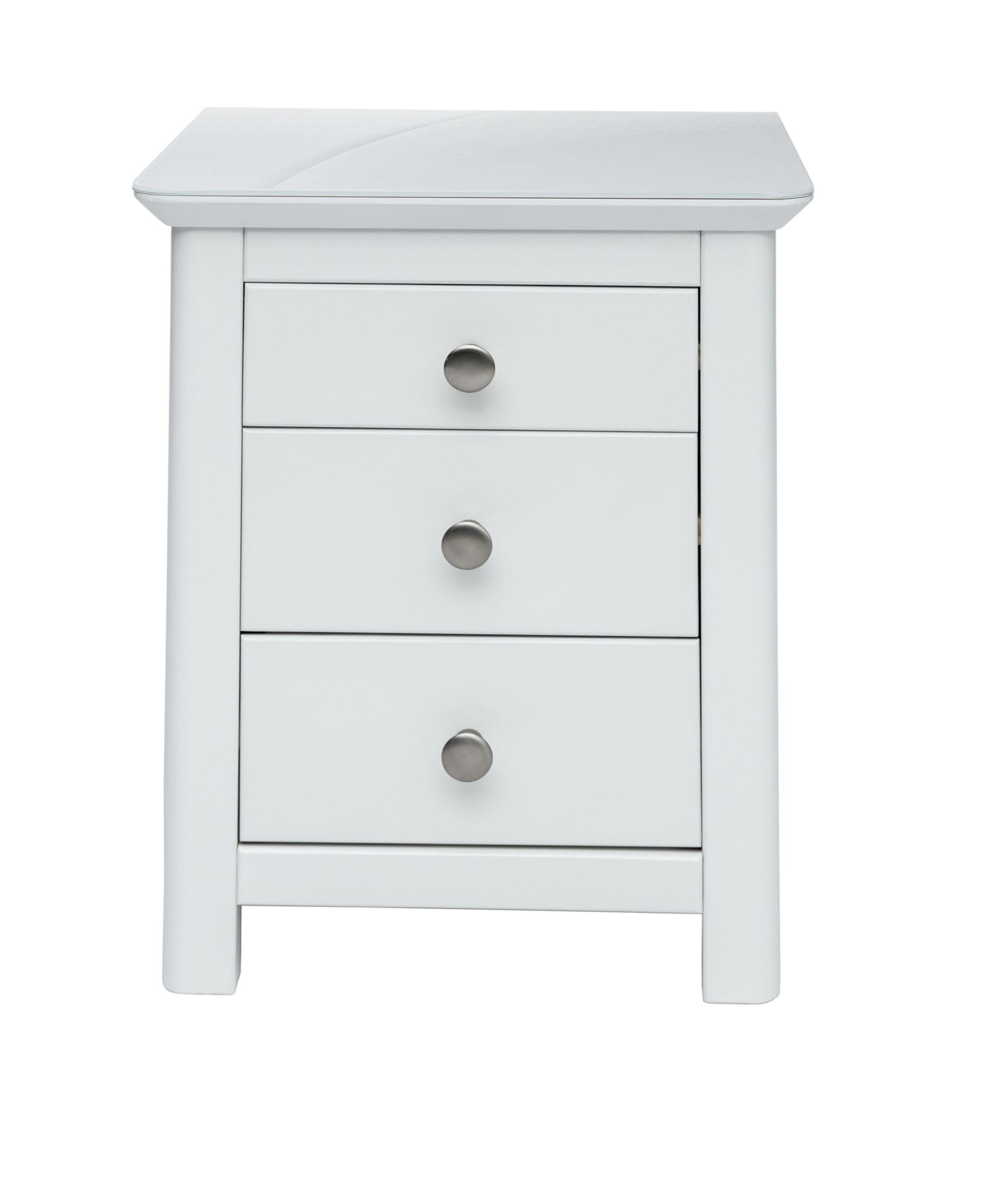 Nel 3 drawer bedside cabinet