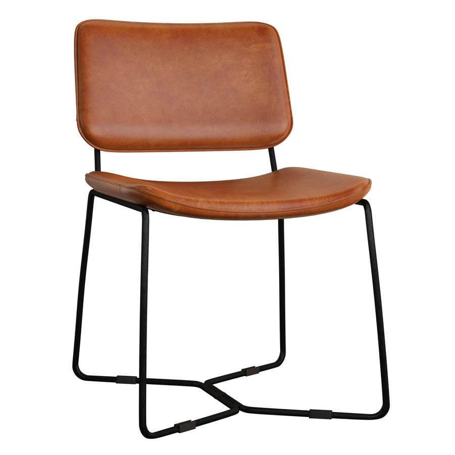 Ruby Side Chair in Bruicato Leather