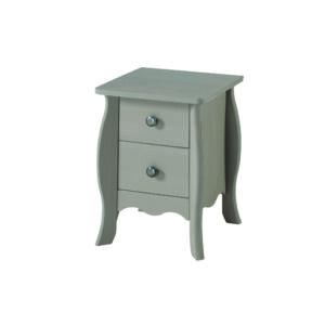 2 drawer petite bedside cabinet