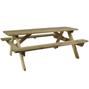 Raysoni Wooden Picnic Garden Outdoor Bench 6 People