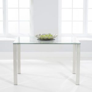 Malka 120cm Glass Dining Table