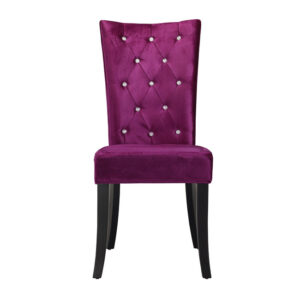 Rivey Dining Chair Purple Velvet (Pack of 2)