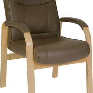 Klarin Brown Bonded Leather Visitor/Office Chair