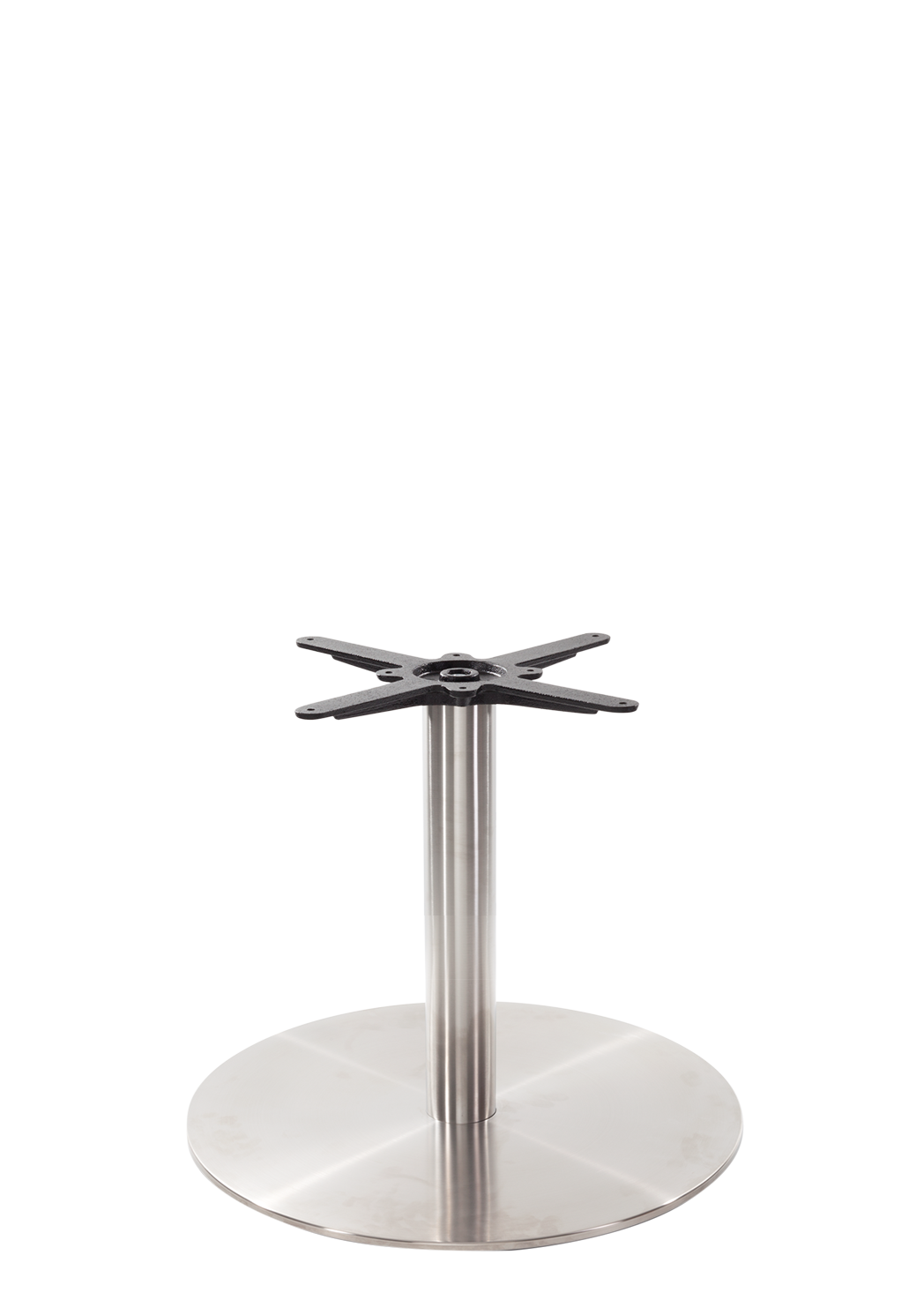 Round s/steel table base - Large - Coffee height - 480 mm