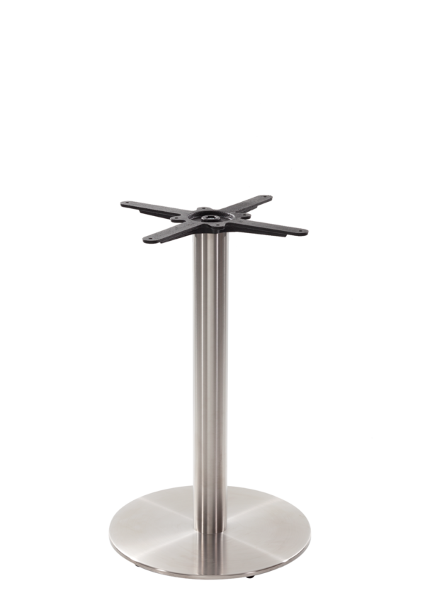 Round stainless steel table base - Medium - Dining height - 730 mm
