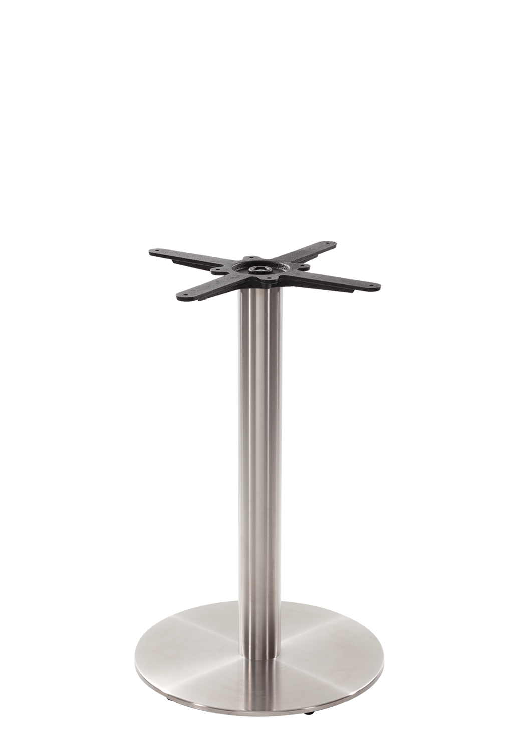Round s/steel table base - Medium - Dining height - 730 mm