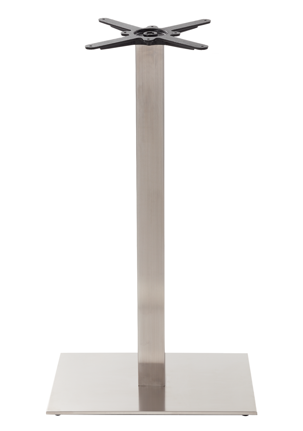 Rectangular s/steel table base - Single - Poseur height - 1050 mm
