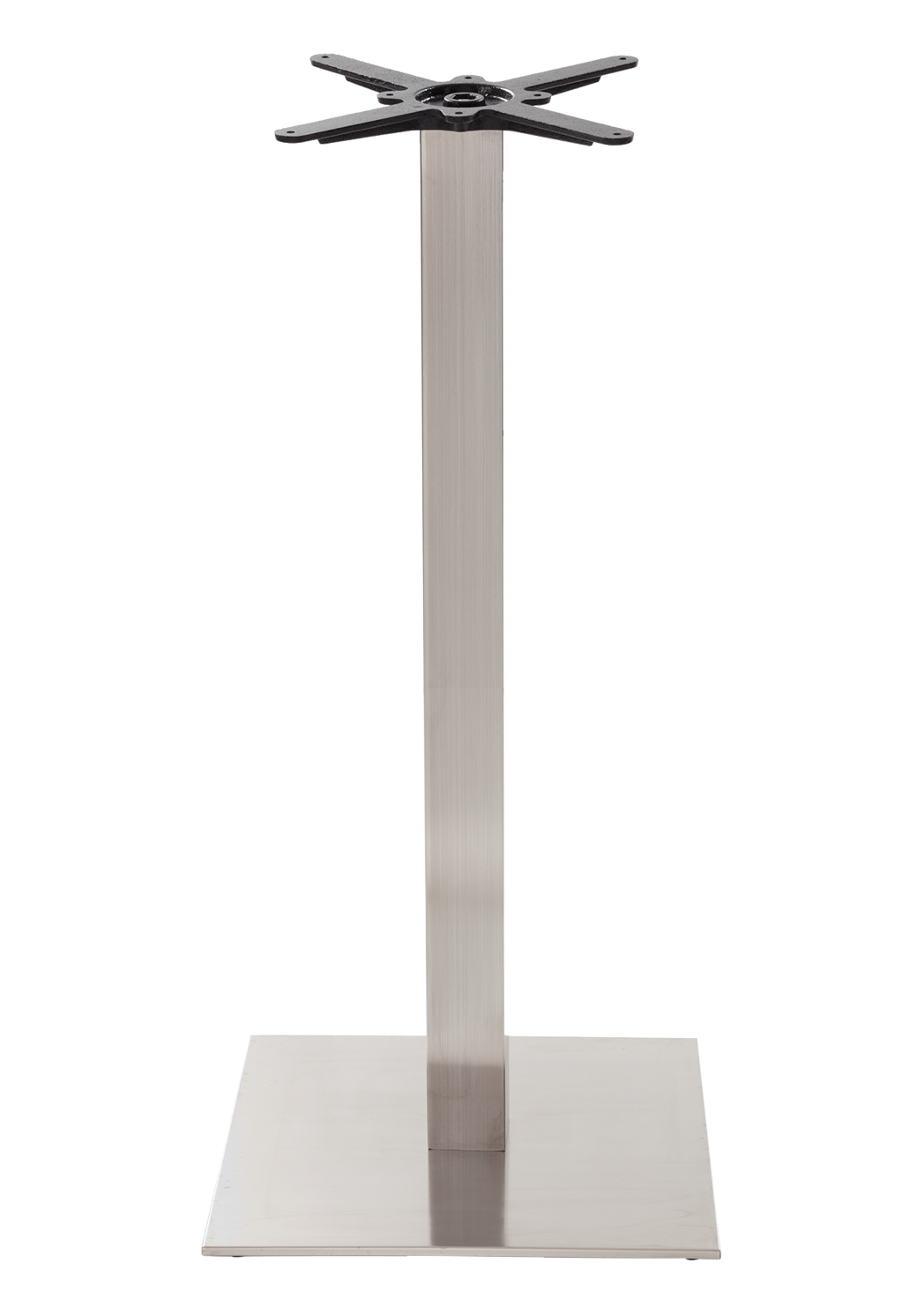 Square stainless steel table base - Large - Poseur height - 1050 mm