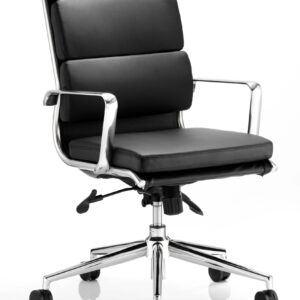 Sava Soft Bonded Leather High Back Office Chair With Arms