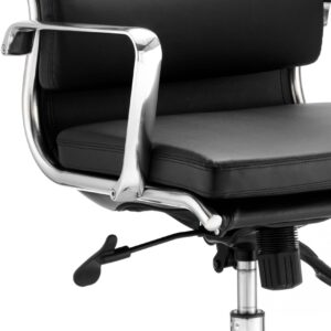 Sava Executive Black Bonded Leather Medium Back With Arms