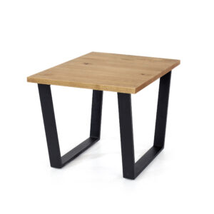 East lamp table with black metal legs