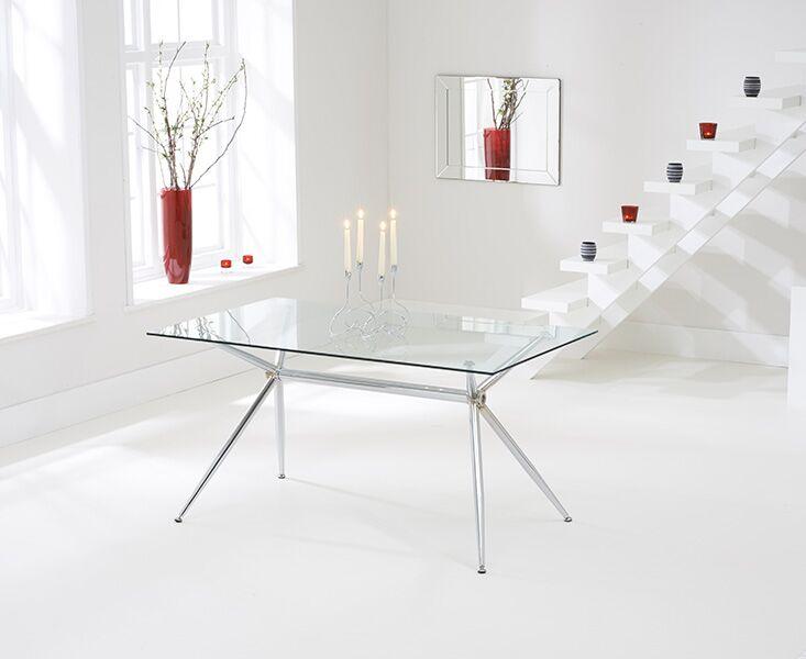 Sapento 150cm Glass Dining Table