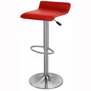 Zest Brushed Stainless Steel Padded Adjustable Bar Stool