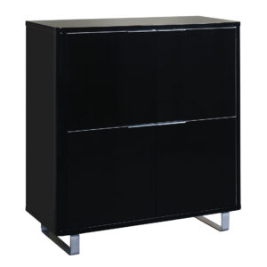 Accord 4 Drawer Storage Unit Black