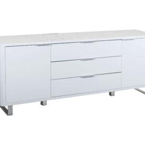 Maudin High Gloss Sideboard White