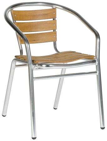 Acfa Aluminium And Teak Chair - Outdoor