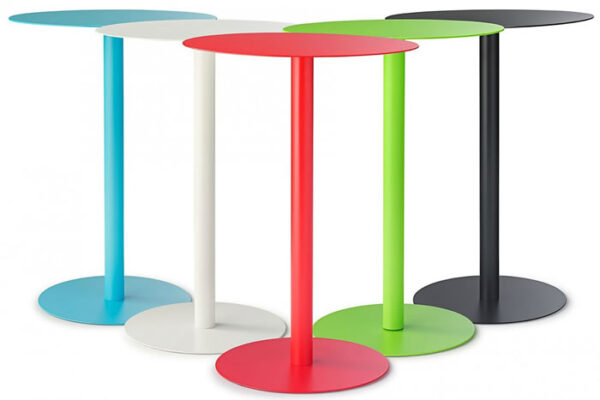 Acro Modern Metal Frame Side Table In 10 Colours - Black
