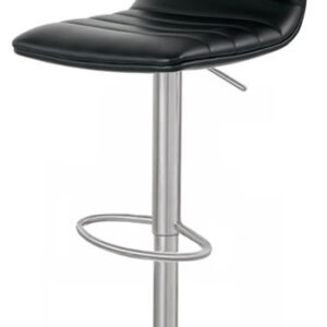 Aydon Brushed Steel Bar Stool Adjustable Padded Seat