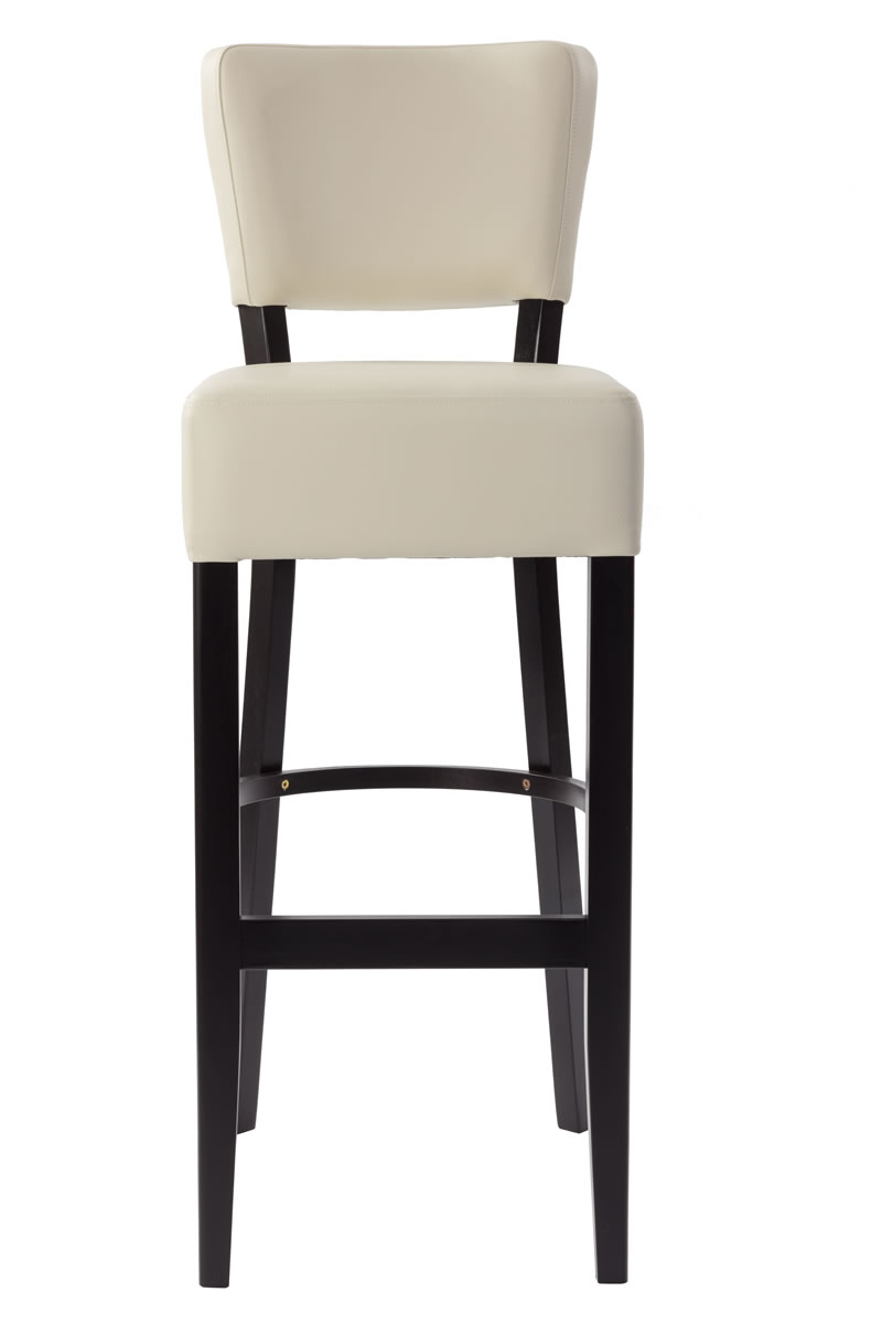 Ultran Kitchen Breakfast Bar Stool Faux Leather Padded Back And Seat Fully Assembled 3 Colours