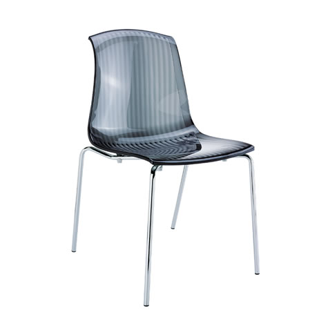 Ares Perspex Transparent Stackable Side Chair - Commercial Quality Fully Assembled