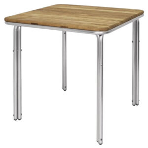 Hester Square Ash And Aluminium Indoor Outdoor Table 700Mm