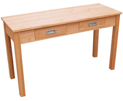 Ashmere Console Table Solid Ash 2 Drawers