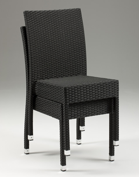 Asta Stackable Wicker Chair - Indoors/Outdoors