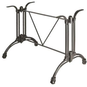 Azurone Table Base Continental Style Double Black Aluminium Table Base