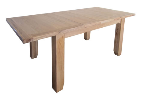 Canora Oak Large Extending Dining Table - Up to 240 x 90 cm