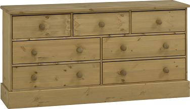 Caledonian Waxed Pine Chest - 3 + 4 Drawers Danish Made Quality