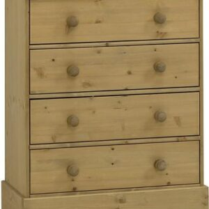 Caledonian Waxed Pine Chest - 4 Drawers Danish Made Quality