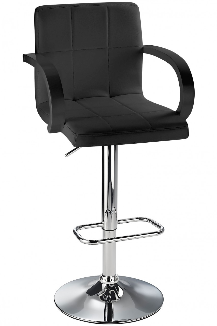Arla Adjustable Bar Stool With Padded Seat And Armrests