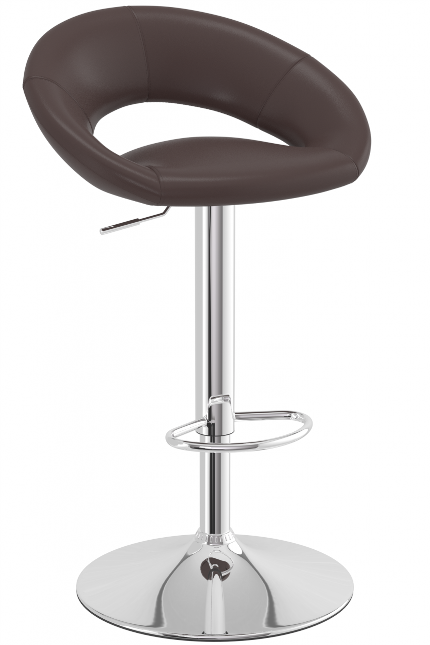 Serene Brown Padded Kitchen Breakfast Bar Stool Height Adjustable