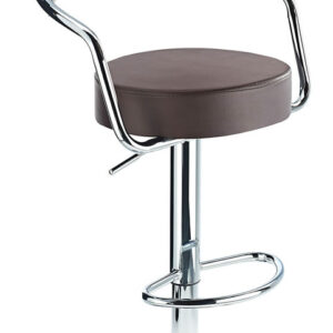 Lazio Adjustable Padded Kitchen Bar Stool Brown