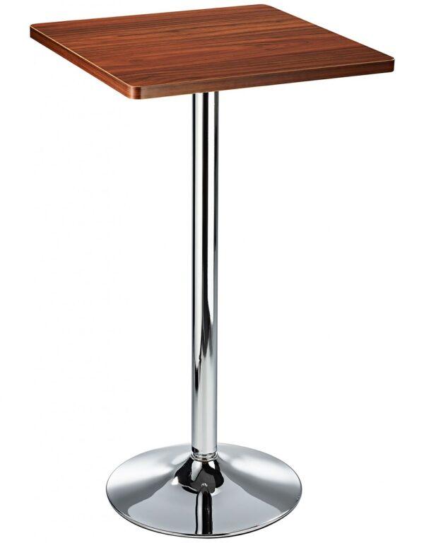 Aslop High Poseur Kitchen Bar Table Square Top Black