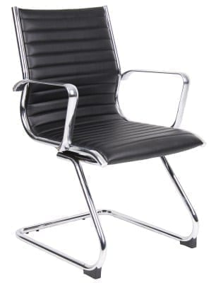 Barr Grain Leather Cantilever Office Chair