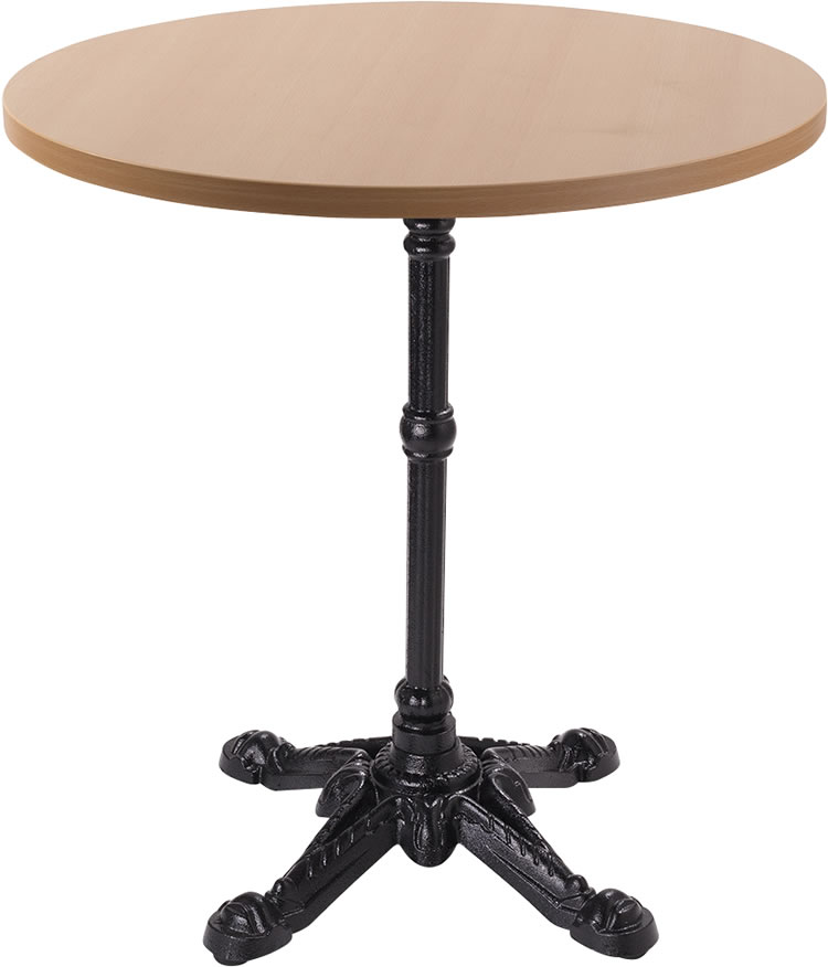 Barron Four Leg Dining Table With Round Top - Beech