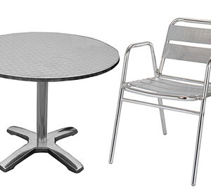 Saboni Outdoor Aluminium Bistro Garden Table And 4 Chairs