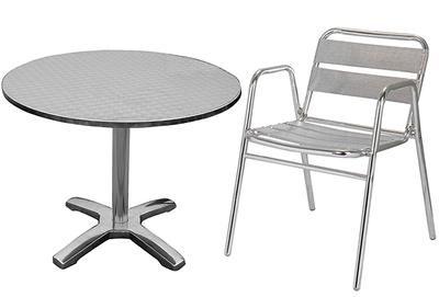 Saboni Outdoor Aluminium Bistro Garden Table And 4 Chairs